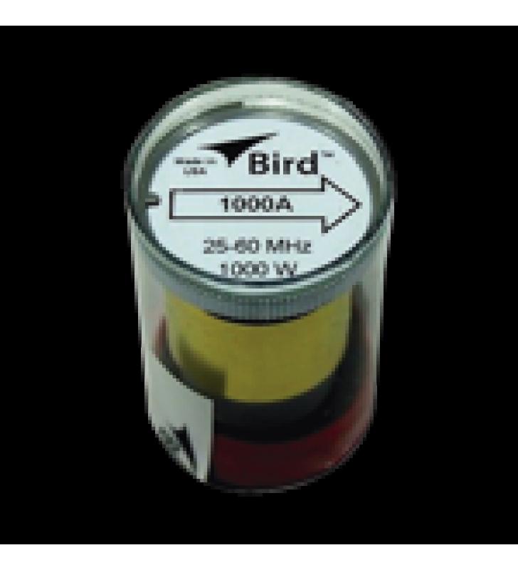 ELEMENTO DE 1000 WATT EN LINEA 7/8 PARA WATTMETRO BIRD 43 EN RANGO DE FRECUENCIA DE 25 A 60 MHZ