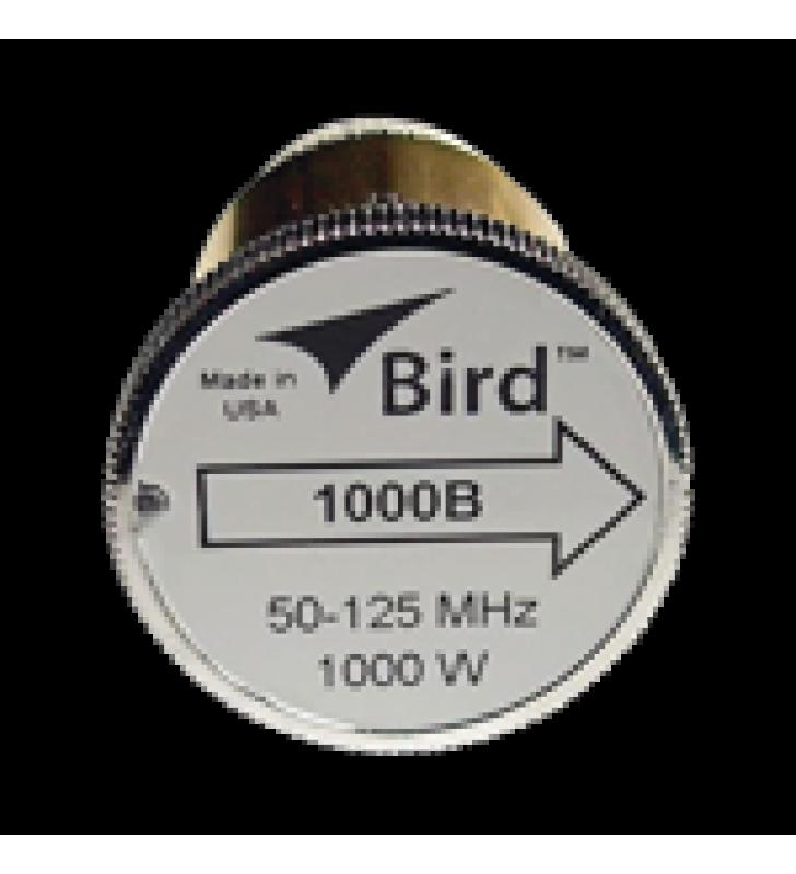 ELEMENTO DE 1000 WATT, LINEA 7/8 PARA WATTMETRO BIRD 43 EN RANGO DE FRECUENCIA DE 50 A 125 MHZ.