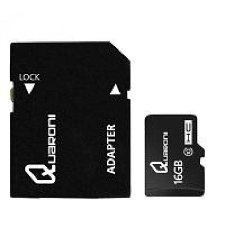MEMORIA QUARONI MICRO SDHC 16GB CLASE 10 C/ADAPTADOR