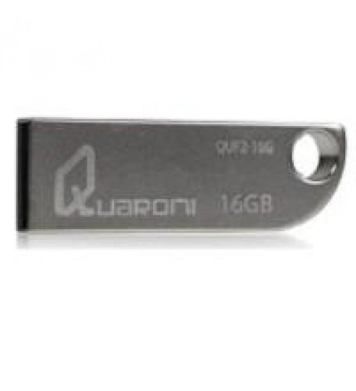 MEMORIA QUARONI 16GB USB 2.0 CUERPO METALICO COMPATIBLE CON WINDOWS/MAC/LINUX