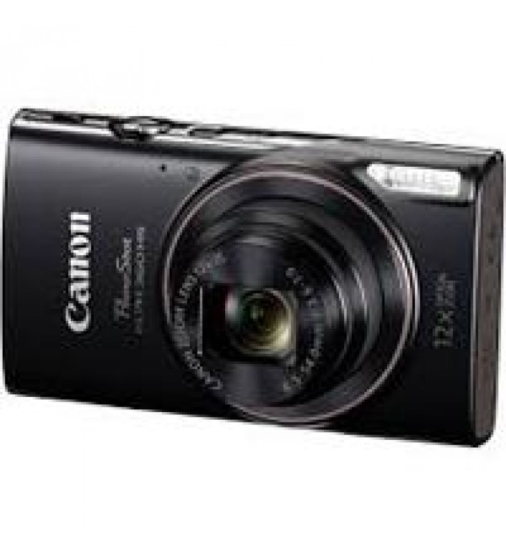CAMARA CANON POWERSHOT ELPH 360 HS NEGRA 12X WI FI NFC 20.2 MP