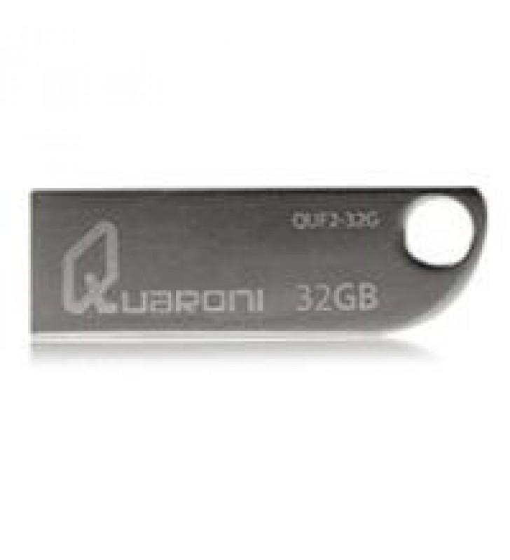 MEMORIA QUARONI 32GB USB 2.0 CUERPO METALICO COMPATIBLE CON WINDOWS/MAC/LINUX