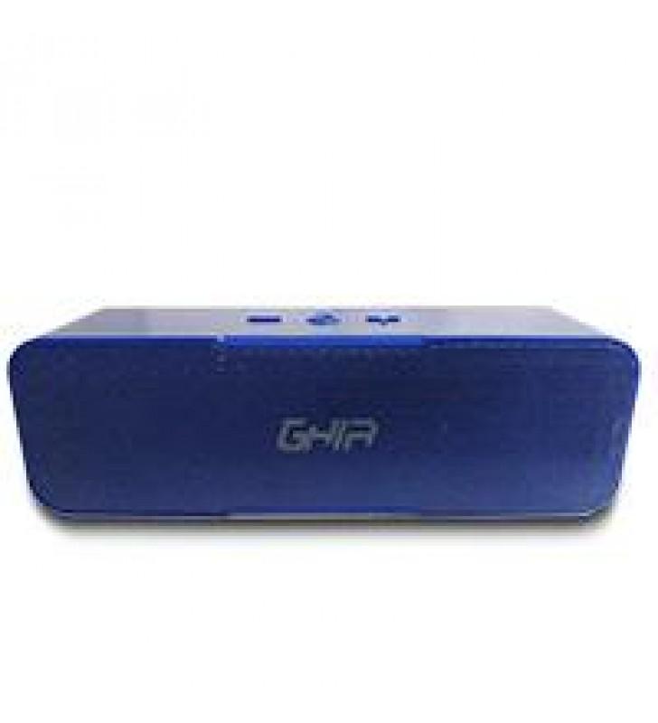 BOCINA BLUETOOTH BX200A GHIA AZUL /8W X2 RMS AUX / RADIO FM/ MICRO SD CARD/USB