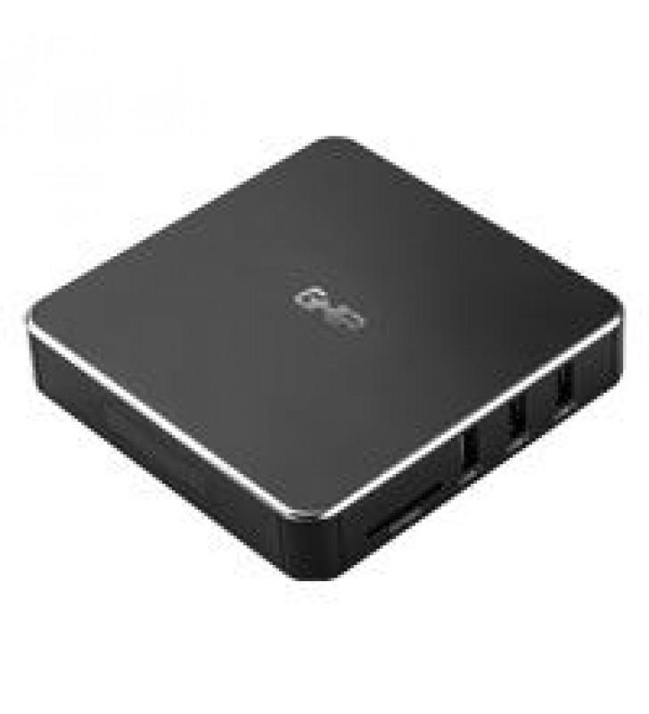 SMART TV BOX GHIA GAC-115/QUAD CORE/1GB/8GB/LAN/WIFI/HDMI/AV/CR/SPDIF/ANDROID 6.0/NEGRO