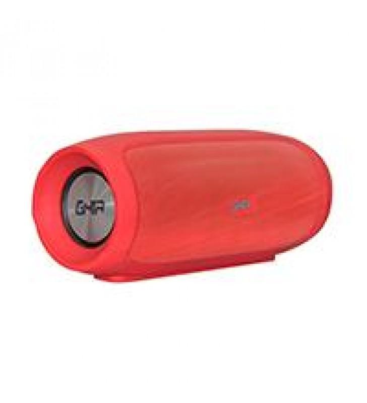 BOCINA BLUETOOTH BX400R GHIA ROJA /8W X2 RMS AUX / MICRO SD CARD/USB