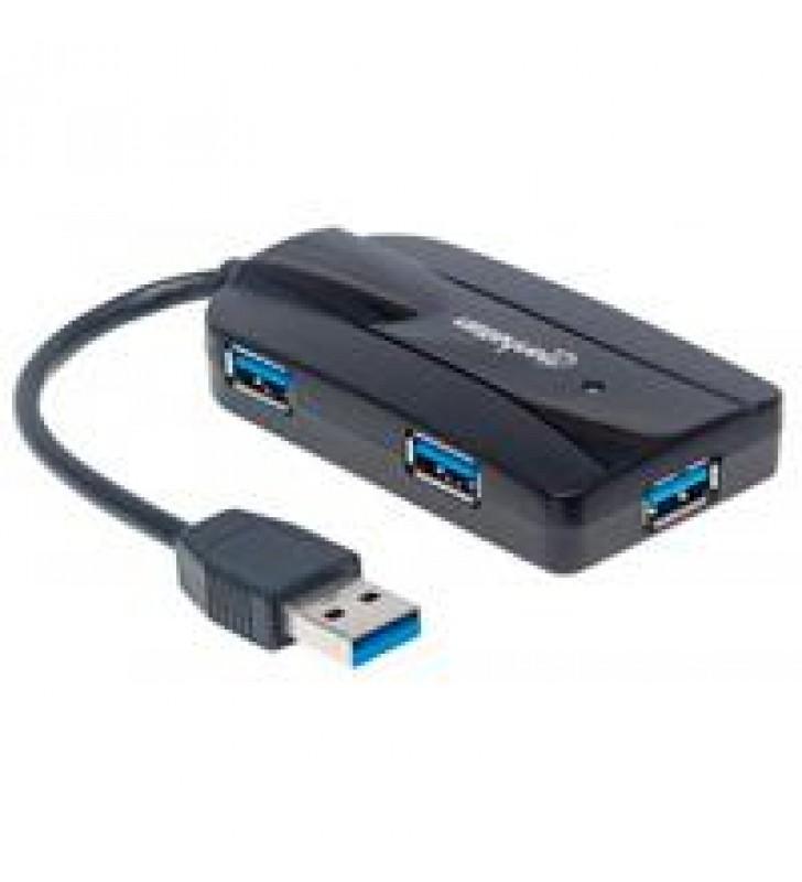 HUB USB V3.0 3 PTOS SIN FUENTE LECTOR TARJETAS MANHATTAN