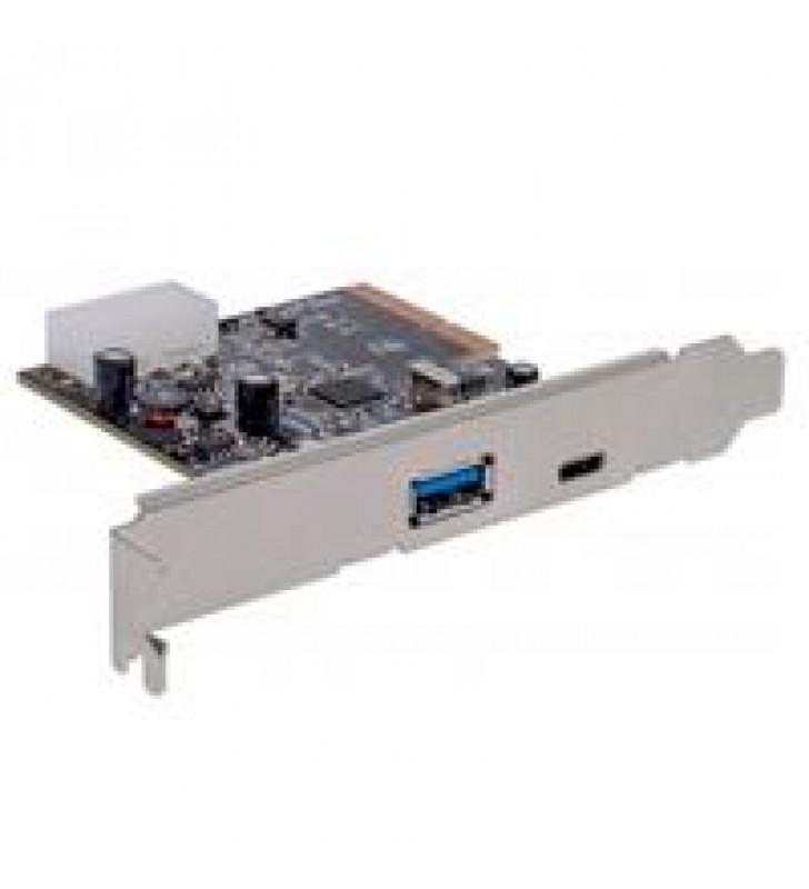 TARJETA PCI EXPRESS MANHATTAN 2 PUERTOS USB 3.1 USB-C BRACKET LARGO Y CORTO