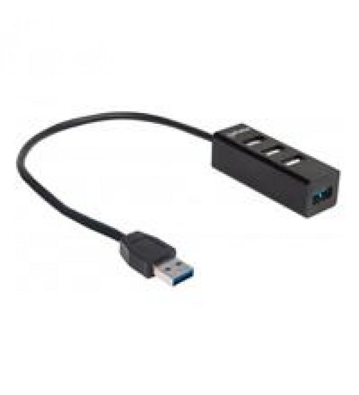 HUB USB V2.0  3 PTOS Y V3.0 1 PTO SIN FUENTE MANHATTAN