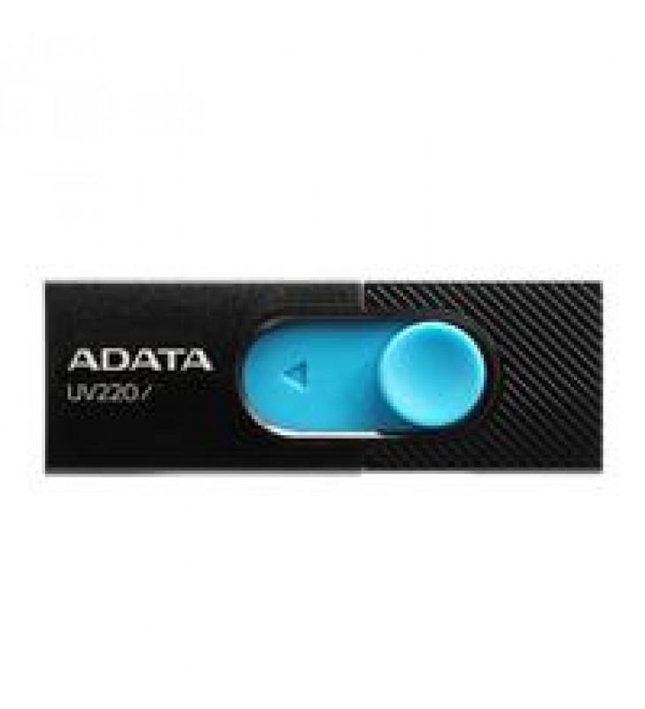 MEMORIA ADATA 16GB USB 2.0 UV220 RETRACTIL NEGRO-AZUL