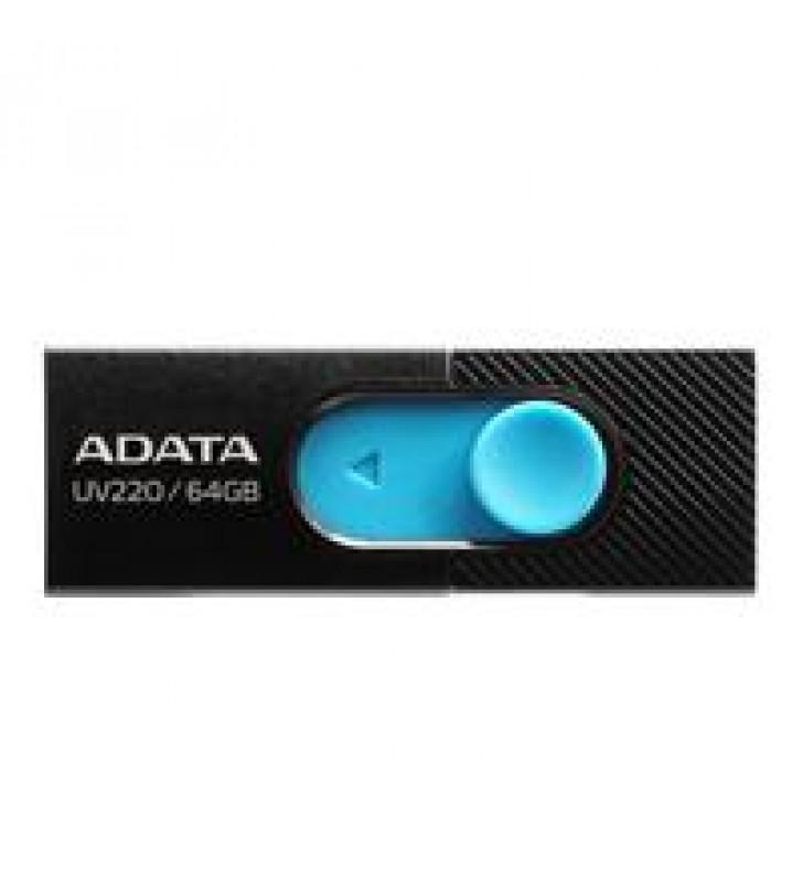 MEMORIA ADATA 32GB USB 2.0 UV220 RETRACTIL NEGRO-AZUL