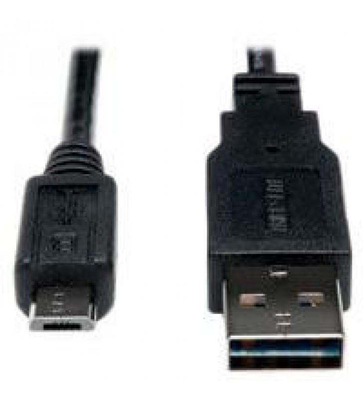 CABLE USB 2.0 TRIPP-LITE UR050-001-24G DE ALTA VELOCIDAD (REVERSIBLE TIPO (A) CONECTOR 2 MICRO (B) D