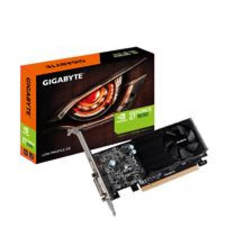 TARJETA DE VIDEO GIGABYTE NVIDIA GT1030/PCIE X16 3.0/2GB/DDR5/64BIT/DVI/HDMI/BAJO PERFIL/GAMA BASICA