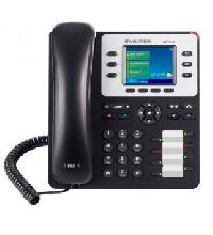 TELFONO IP COLOR GIGABIT DE 3 LNEAS 3 CUENTAS SIP CON 4 TECLAS DE FUNCIN 8 TECLAS DE EXTENSIN BLF Y