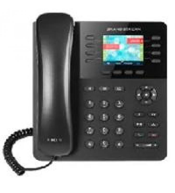 TELFONO IP COLOR GIGABIT CON 8 LNEAS 4 CUENTAS SIP Y 4 TECLAS DE FUNCIN CONFERENCIA DE 4 VASBLUETOOT