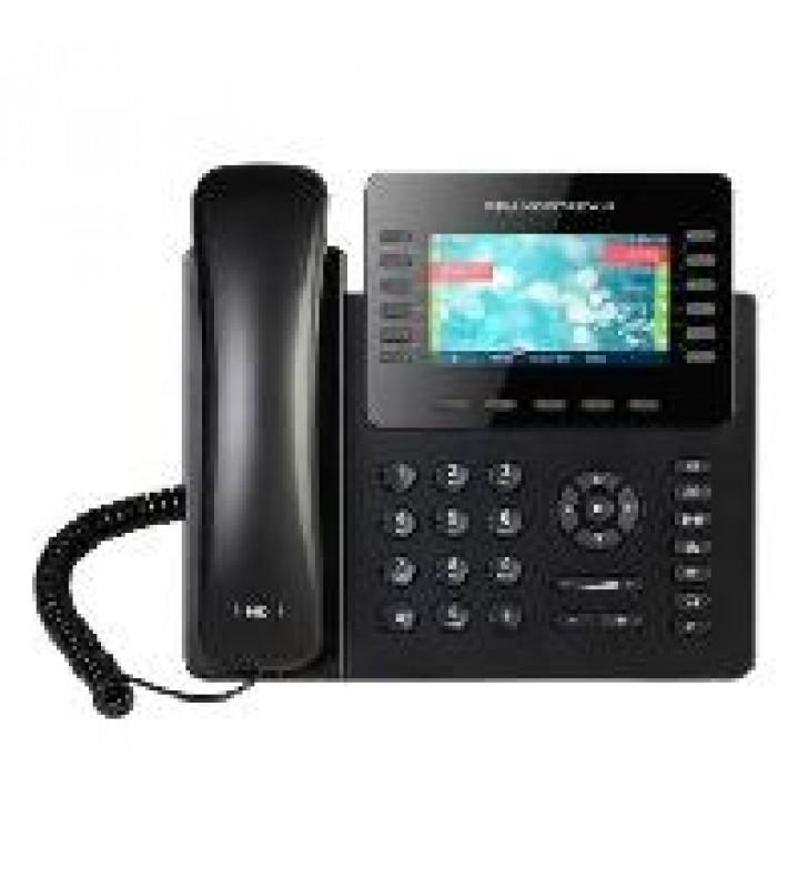 TELFONO IP COLOR GIGABIT PARA 12 LNEAS 6 CUENTAS SIP AUDIO HD BLUETOOTH 24 TECLAS PROGRAMABLES POE Y