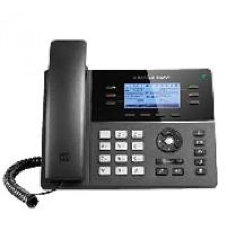 TELFONO IP WIFI GAMA MEDIA DE 6 LNEAS 3 CUENTAS SIP CON 4 TECLAS DE FUNCIN 24 TECLAS DE EXTENSIN BLF