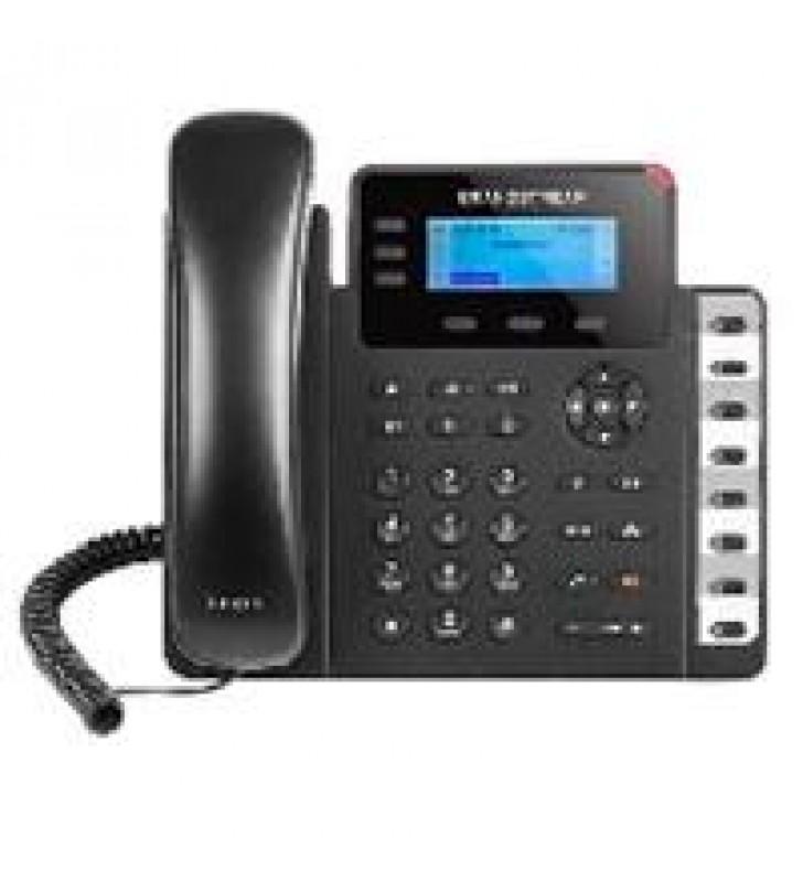 TELFONO IP BASICO GIGABIT DE 3 LNEAS 3 CUENTAS SIP CON 3 TECLAS DE FUNCIN 8 TECLAS DE EXTENSIN BLF Y