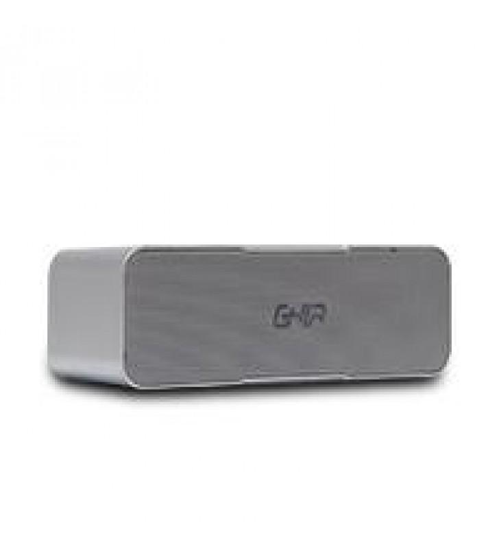 BOCINA BLUETOOTH BX200G GHIA GRIS /8W X2 AUX / RADIO FM/ MICRO SD CARD/USB
