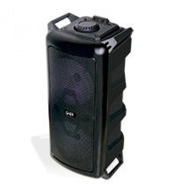 BAFLE AMPLIFICADO GHIA DOBLE BOCINA 6.5 PULG RECARGABLE /BT/USB/MICROSD/MIC/CONT.R./ LUZ LED