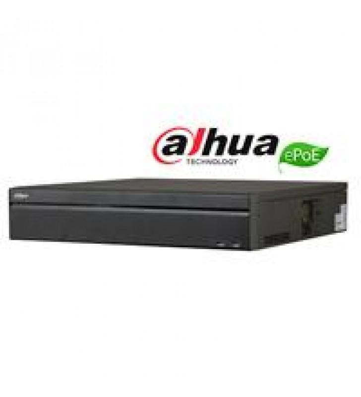NVR DAHUA 64 CANALES IP 4K/ H265/RENDIMIENTO 320MBPS/IVS/2 HDMI/ VGA/16 PUERTOS POE/ 8 PUERTOS EPOE/