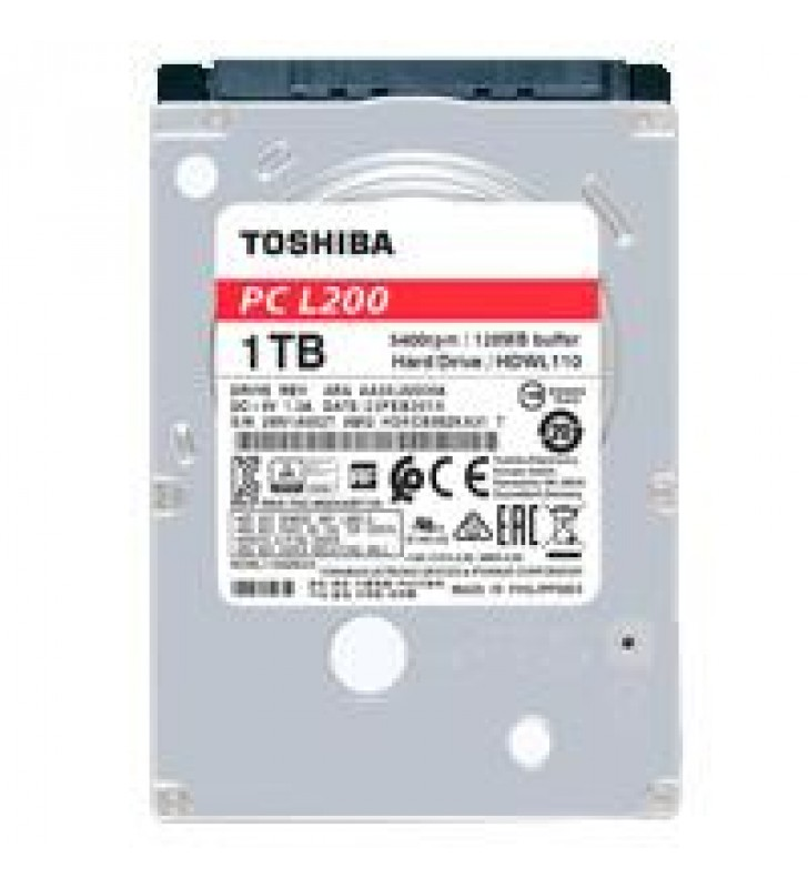 DD INTERNO TOSHIBA L200 2.5 1TB//SATA3//6GB/S //128MB CACHE//5400RPM//7MM//P/NOTEBOOK//PORTATIL//LAP