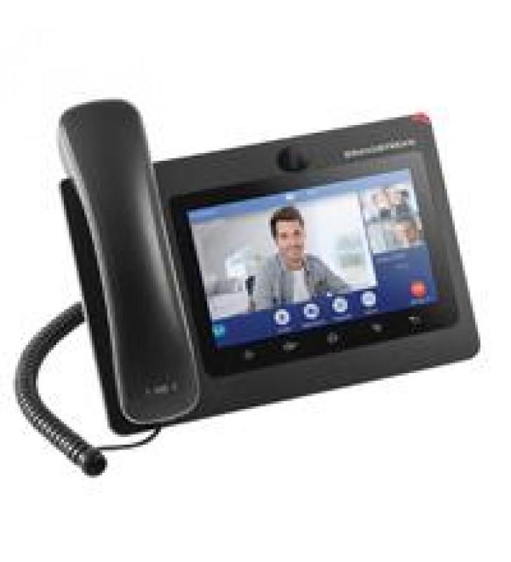 TELEFONO IP ANDROID DE VIDEOCONFERENCIA GIGABIT CON 16 CUENTAS SIPPANTALLA TACTIL CAPACITIVA DE 7 PU