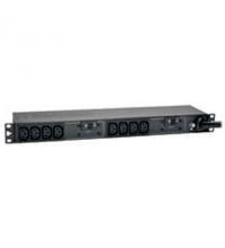 PDU BASICO MONOFASICO TIPP-LITE PDUH30HVDE  208/240V 30A 5.0-5.8KW HORIZONTAL 1U EN RACK  10 (C13) C