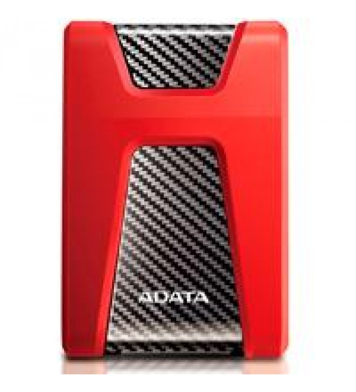 DD EXTERNO 1TB ADATA HD650 2.5 USB 3.2 CONTRAGOLPES ROJO WINDOWS/MAC/LINUX