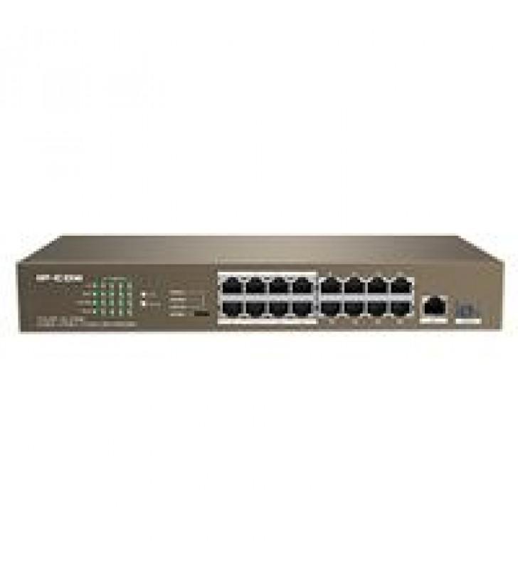 SWTICH F1118P-16-150W IP-COM 16 PUERTOS POE FAST ETHERNET (AF AT) + 1 GE + 1 PUERTO SFP METAL 13 PUL