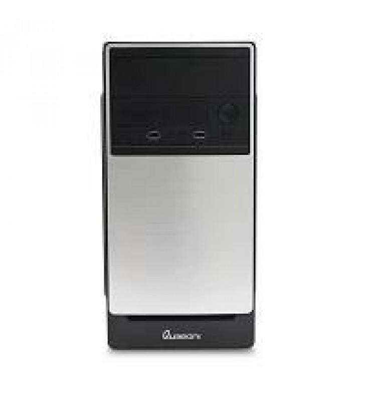 GABINETE QUARONI MEDIA TORRE MICRO ATX / PLATA / FUENTE 400W / 204 PINES / USB 2.0 / AUDIO / PC