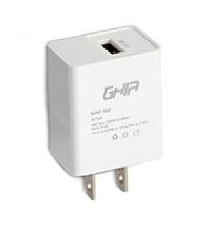 CARGADOR DE PARED GHIA CON 1 SALIDA USB 3.0 CARGA RAPIDA