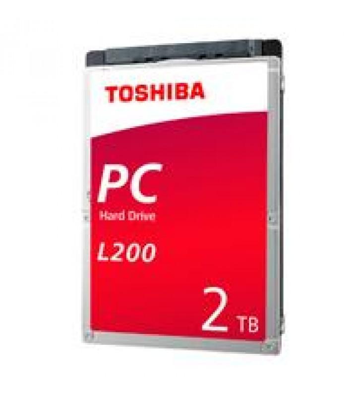 DD INTERNO TOSHIBA L200 2.5 2TB//SATA3//6GB/S//128MB CACHE//5400RPM//9.5MM/P/NOTEBOOK//PORTATIL//LAP