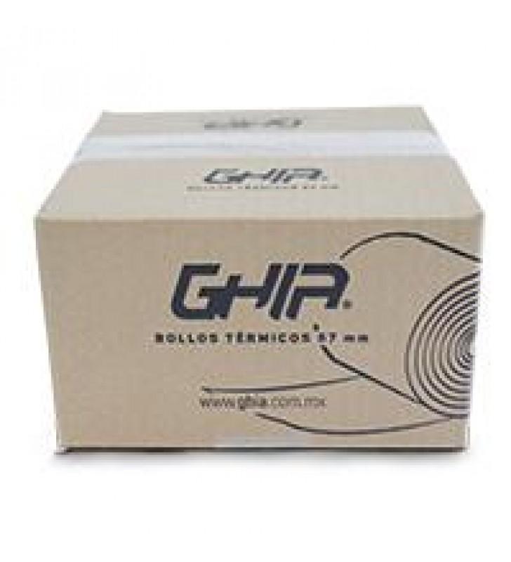 CAJA ROLLO PAPEL TERMICO GHIA 57X40 MM /50 PIEZAS /PARA IMPRESORAS DE 58MM