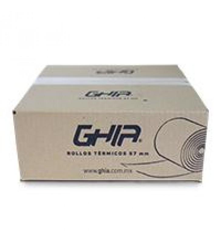 CAJA ROLLO PAPEL TERMICO GHIA 57X60 MM /50 PIEZAS /PARA IMPRESORAS DE 58MM