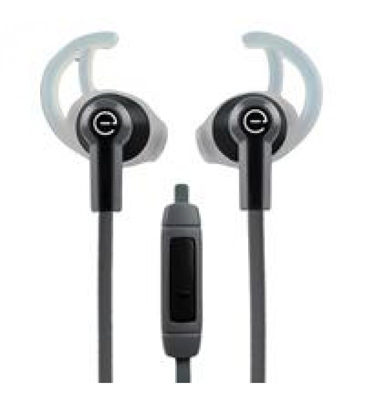 AUDIFONOS DEPORTIVOS IN-EAR CON MICROFONO EASY LINE BY PERFECT CHOICE NEGRO/GRIS