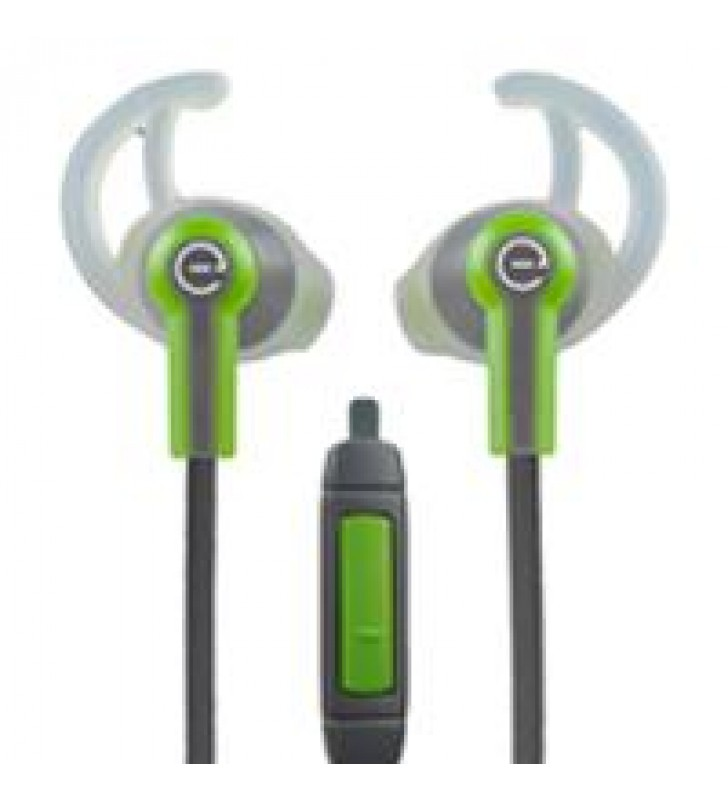 AUDIFONOS DEPORTIVOS IN-EAR CON MICROFONO EASY LINE BY PERFECT CHOICE VERDE/GRIS