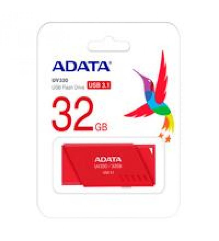 MEMORIA ADATA 32GB USB 3.2 UV330 RETRACTIL ROJO