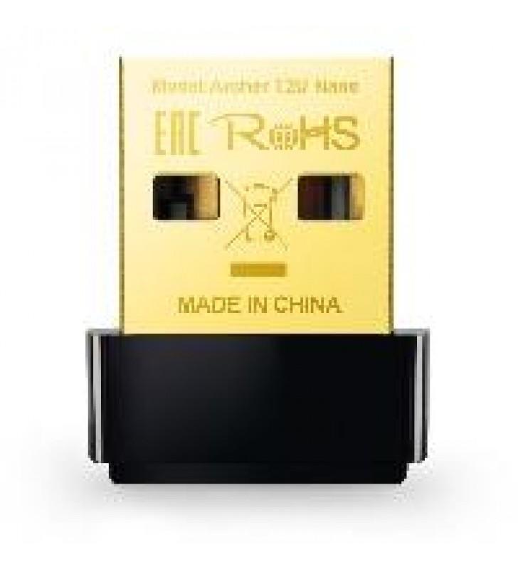 TARJETA DE RED USB TP-LINK ARCHER T2U NANO DUAL BAND AC600 5GHZ 433MBPS 2.4GHZ 150MBPS 802.11AC/A/N/