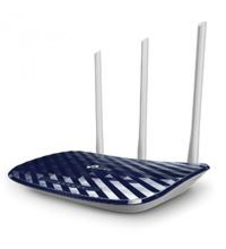 ROUTER INALAMBRICO TP-LINK ARCHER C20W WISP AC750 DUAL BAND 2.4GHZ A 300MBPS Y 5GHZ A 433MBPS 4 PUER