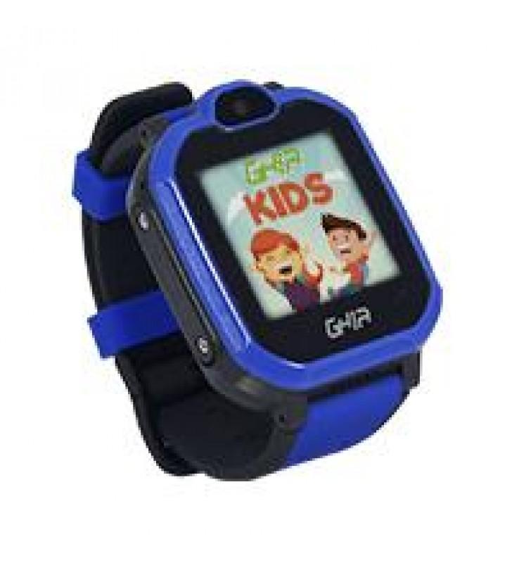 GHIA SMART WATCH KIDS 4G AZUL-NEGRO/ 1.44 PULGADAS TOUCH CON LINTERNA Y CAMARA/SIM CARD 3G-4G