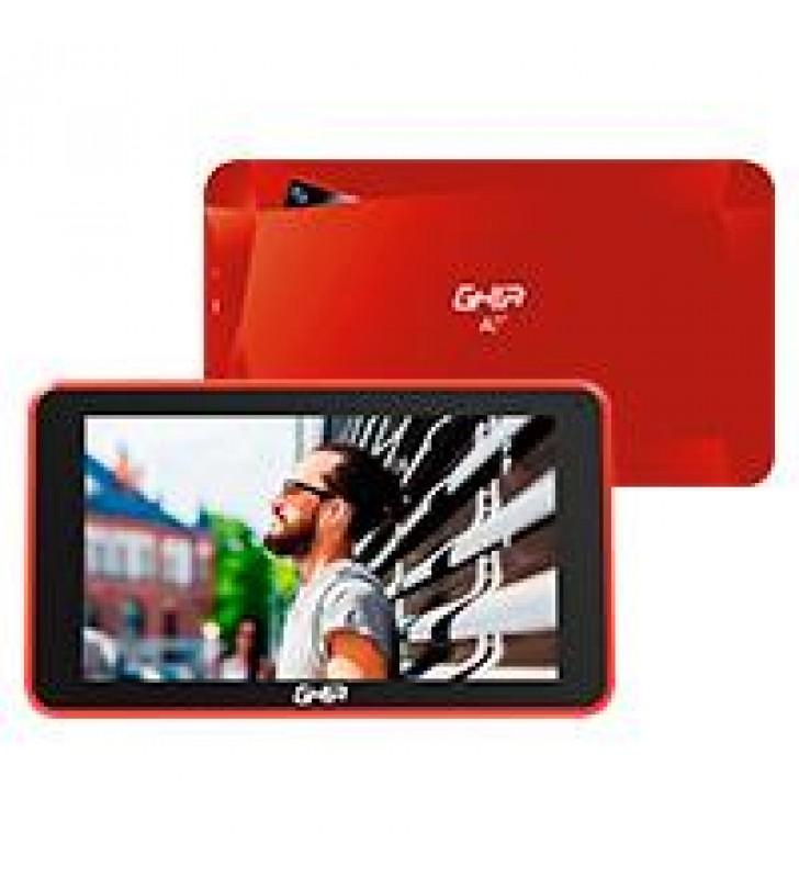 TABLET GHIA A7 WIFI/QUADCORE/A50/WIFI/BT/1GB16GB/0.3MP2MP/2000MAH/ANDROID 81 GO/ROJA