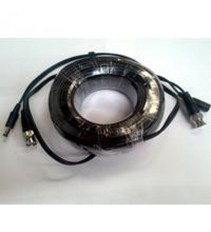 CABLE DE VIDEO Y ENERGIA DE 20 MTS SAXXON / COAXIAL SIAMES /BNC MACHO/ 1 CONECTOR MACHO Y 1 CONECTOR