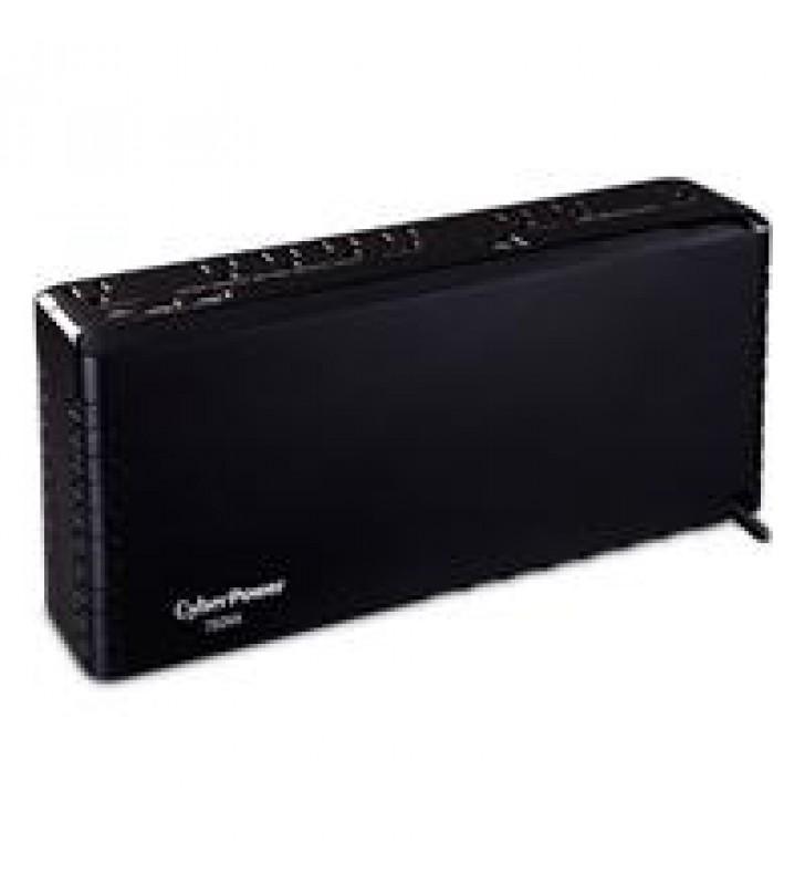 NO BREAK / UPS CYBERPOWER (SL750U). 750 VA / 375 W. STANDBY. FORMA SLIM 8 TOMAS (5 RESPALDO / 3 SOLO