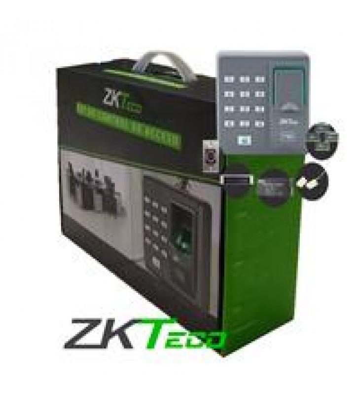 KIT ZK TECO X7 PARA CONTROL DE ACCESO DE 1 PUERTA 500 HUELLAS 500 TARJETAS RFID125 KHZ USO INTERIOR