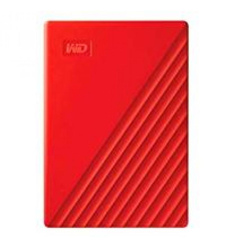 DD EXTERNO PORTATIL 4TB WD MY PASSPORT ROJO 2.5/USB3.0/COPIA LOCAL/ENCRIPTACION/WIN