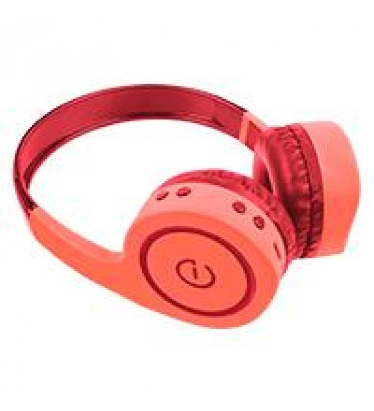 AUDIFONOS ON-EAR INALAMBRICOS MANOS LIBRES CON BT FM SD 3.5MM EASY LINE BY PERFECT CHOICE CORAL