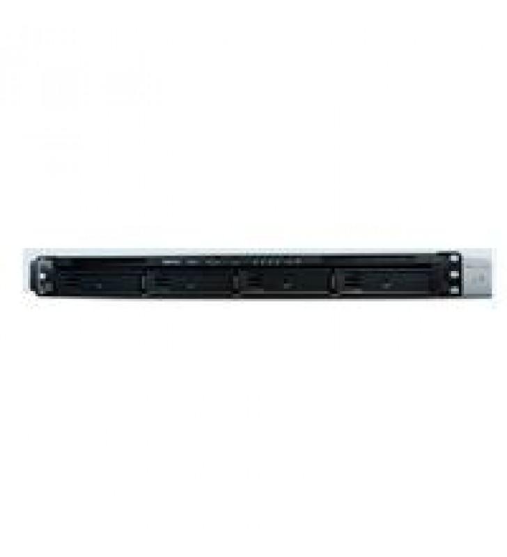 NAS SYNOLOGY RS820RP CON FUENTE REDUNDANTE/4 BAHIAS EXPANDIBLES HASTA 8/RACK1U/2.1GHZ/2GB DDR4 AMPLI