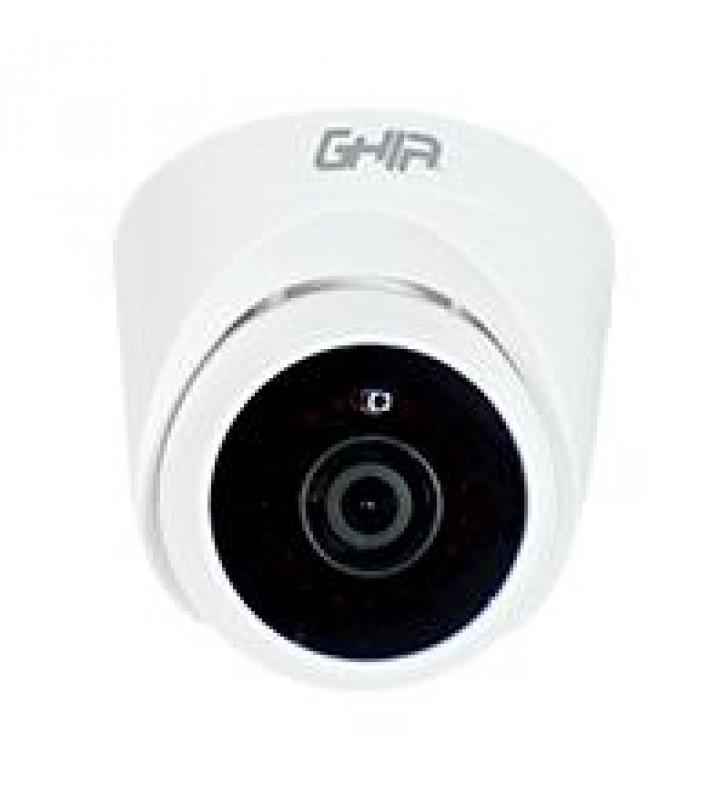 CAMARA GHIA TIPO DOMO 720P 4 EN 1 AHD/TVI/CVI/CVBS/ 1MP/LENTE DE 2.8MM/ IR 25MTS USO INTERIOR