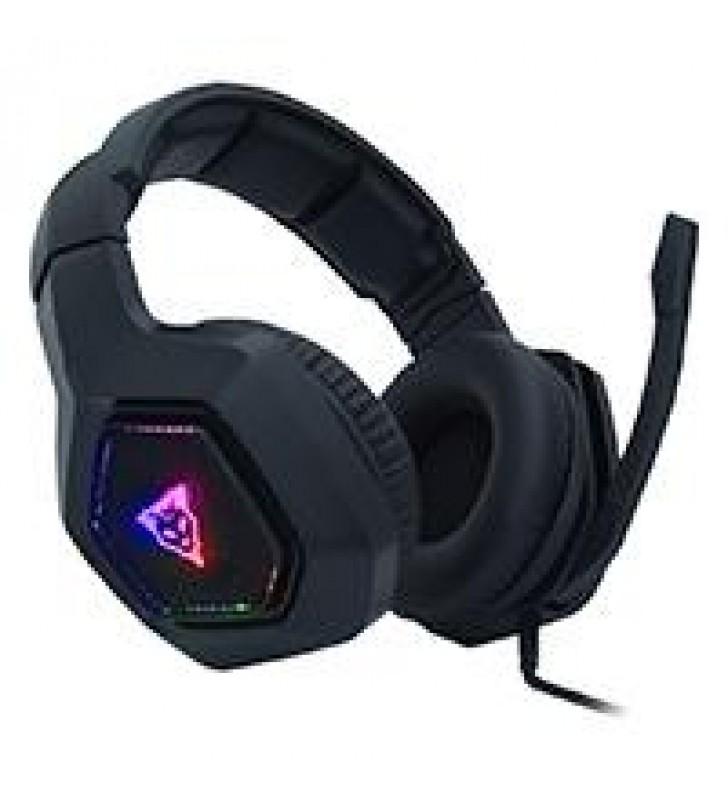 AURICULARES GAMER OCELOT TIPO DIADEMA/OVER EAR/COLOR NEGRO/ILUMINACION TIPO RGB /ALAMBRICOS/CONTROL
