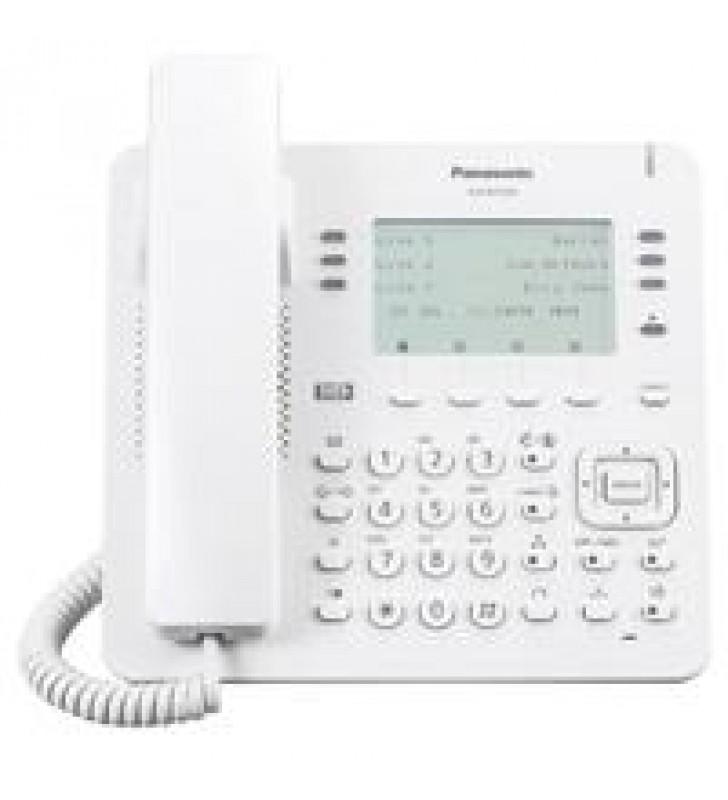 TELEFONO IP PROPIETARIO PANASONIC  6X4 BOTONES CO FLEXIBLES 2 PUERTOS ETHERNET GB POE. COMPATIBLE CO